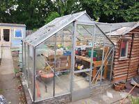 Greenhouse, with auto opening vent & sliding door