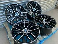 "BMW 405M Performance style 19"" Staggered Alloy Wheels Black And Polished"
