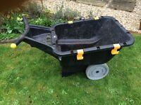 Wheelbarrow: light weight, heavy duty plastic non- rusting