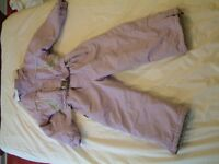 "Ski suit for sale, A child's ""Brugi"" all in one style for girl aged 6yrs for collection."