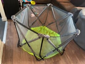 Summer time fold up playpen with free bag of balls