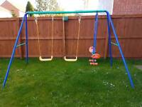 Swing set for garden