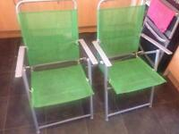 2 folding garden chairs ideal for camping