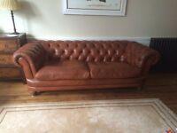 3 seater John Lewis Chesterfield sofa