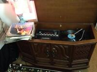 Antique turntable cabinet/ table