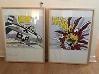 Large Lichtenstein Whaam A&B prints