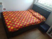 Hygena Imelda Small Double 1 Drawer Bed Frame - Black