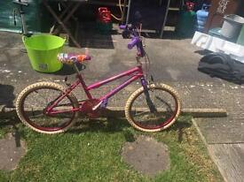GIRLS Sugar Babe Pink BIKE/BICYCLE 20inch, adjustable seat & handlebars