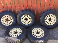 Silverline Blindo alloy wheels. Land Rover fitment. 5 wheels with tyres