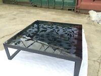 Habitat Glass & Metal Coffee Table
