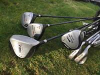 Golf clubs bags lot