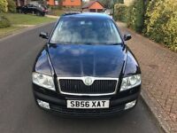 2007 SKODA OCTAVIA LAURIN & KLEM TDI 1.9, 10 SERVICES, FULL SERVICE HISTORY, BLACK HEATED LEATHER