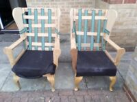 2 Arm chairs for upholstery