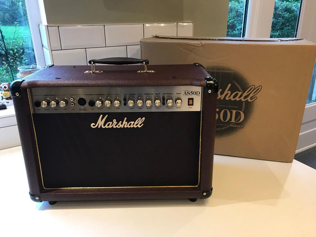 Marshall AS50D acoustic guitar amp.