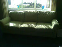 2 piece 5 seater green comfy woven wool sofa