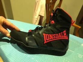 LONSDALE GHOSTSPEED BOXING BOOTS SIZE 8