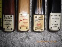 ***** BARGAIN Cheapest NEW, & Antique/Vintage Snooker/Billiard & Pool Cues & CASES BARGAIN *****