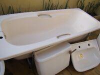 BATHROOM SUITE - BATH, SINK, TOILET & SHOWER CABIN