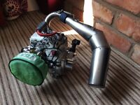 Losi 5ive engine with and hop ups with dx4s
