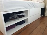 IKEA PLATSA BED FRAME W/ STORAGE, WHITE, 140x200cm, £150 ONO (COLLECTION ONLY)