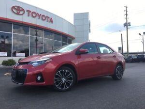 2016 Toyota Corolla S UPGRADE, LEATHER, MOONROOF, BACKUP CAMERA