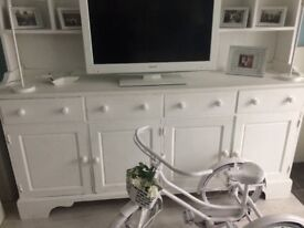 shabby chic large white sideboard dresser Bargain at £70