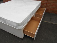 King size divan bed with mattress and 4 drawers