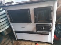 Dual Fuel woodburner with cooking top. world class 77% efficient. like mini-rayburn/aga