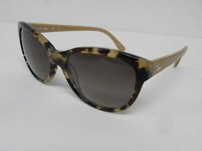 Lacoste Women L785S 218 Tortoise Brown Cat Eye Sunglasses 785