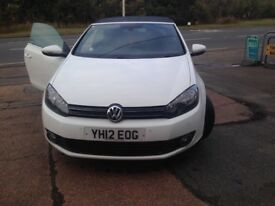 White golf convertible bluemotion