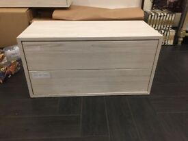 IKEA Wall Shelf with 2 Drawers - 8 units available / Metal fixing included