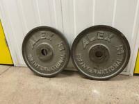 2 x 15kg metal plates