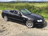 Low mileage convertible black Saab 9-3
