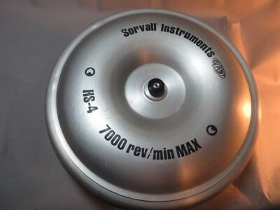 7000 Rpm Sorvall Hs-4 Swinging Bucket Centrifuge Rotor With 4 Buckets Lid