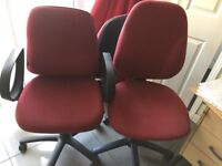 Office Desk revolving chairs Adjustable levers