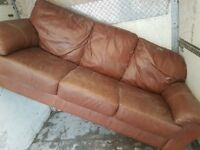 Free 3 seater leather couch