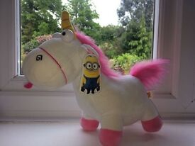 Cuddly toy unicorn from despicable me