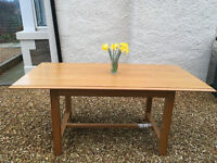 M&S Lichfield solid oak dining table, good condition