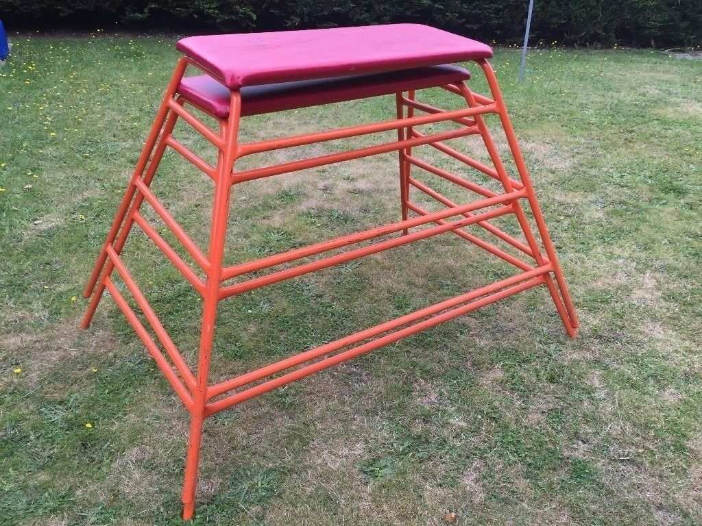 Strong Metal Frame Gymnastics Style Vault Horse Bench In