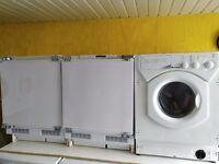 Intergrated washerdryer, fridge and freezer