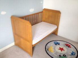 East Coast Langham Oak Cot Bed