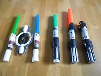 Collection of Star Wars Lightsabers