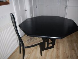 Black Solid Wood Extending Dining Table & Chairs - Maskreys - Cheap for Quick Sale - Need space