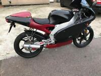 Aprilia RS50 Rare Original Model Road legal Motorbike ON ROAD MOT TAX LOGBOOK 2 Stroke £550 no lower