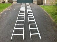 Double Aluminium Extension Ladder