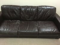 3 Piece Faux Leather Sofa Set + Sofa Stool