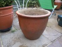 VERY LARGE TERRACOTTA POT FROST FREE