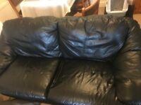 Faux Leather 3 seater sofa -Free