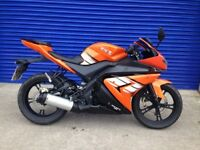 2017 GEN MOTO XRZ 125 SPORTS BIKE , VERY LOW MILES 380 , CLEAN TIDY BIKE PX WELCOME