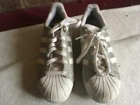 Adidas ladies trainers white size 6/39 used 2 times £5